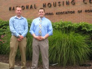 Preparing For The Future. Ben Hendershot (left) and Brian Roling are two college students who are interning with Washington, D.C-area builders through the NAHB Residential Construction Internship program.