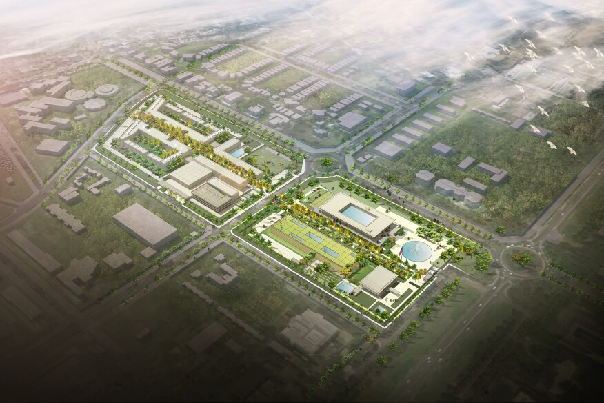 Excellence approach design for the U.S. Embassy in New Delhi by architecture firm Weiss/Manfredi