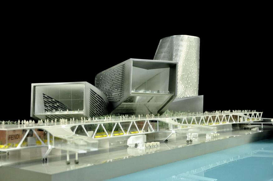 View of the Kaohsiung Port Terminal model.