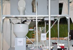 First prize at the Reinvent the Toilet Fair went to this design from The California Institute of Technology.