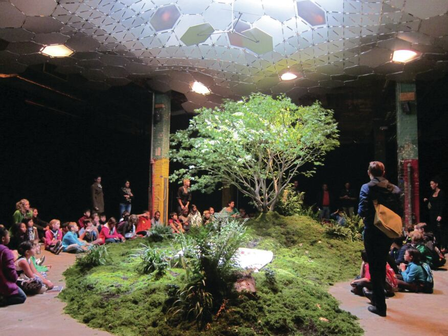A view of the proof-of-concept installation for the Lowline.