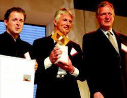 Holcim Gold Award winners from Germany: Peter Pistorius, Christoph Ingenhoven, and Heinrich Schumacher