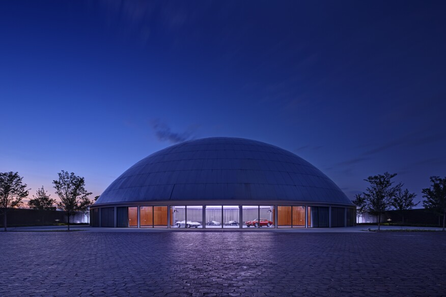 The renovated Design Dome at the General Motors Technical Center in Warren, Mich.