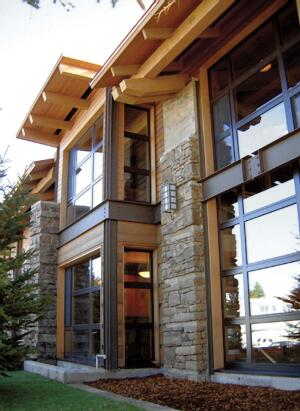cold comfort  Hard-working windows are essential to stave off Wyoming's cold and snow. Carney says Case windows' German engineering and fine hardwood frames do the trick. The manufacturer's patented low-E insulating glass will accept large expanses of glazing without sacrificing interior heat. Carney goes for the tilt-turn or casement hardware so windows will open wider. South American mahogany, Douglas fir, and Burmese teak are just a few of the wood trims available. The Carney design seen here features extruded aluminum cladding. Case Window and Door, 800.227.3957; www.casewindow.com
