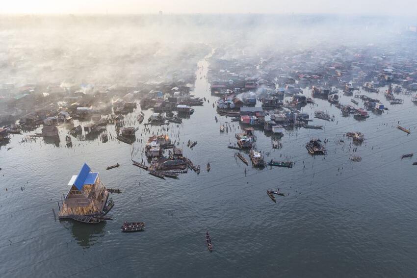 Makoko Floating School in Lagos, Nigeria.