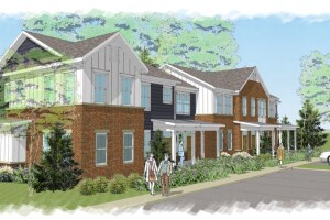 Plans for an affordable housing development.