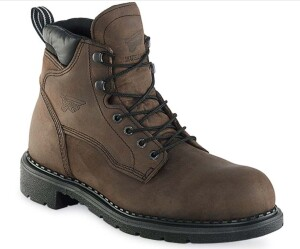 One model of recalled Red Wing steel toe boots.