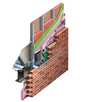 A rendering of Owens Corning's CavityComplete Wall System.