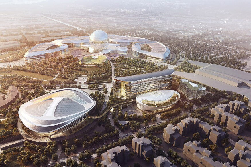 Overall view of Astana Expo City 2017.