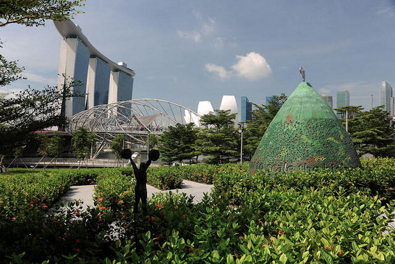 Singapore Urban Redevelopment Authority Marina Bay in Singapore
