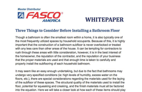 Three Things to Consider Before Installing a Bathroom Floor