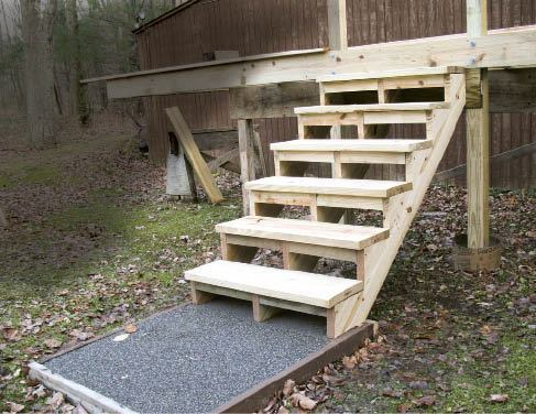 Building and installing deck stairs professional deck for Steps to building a new house