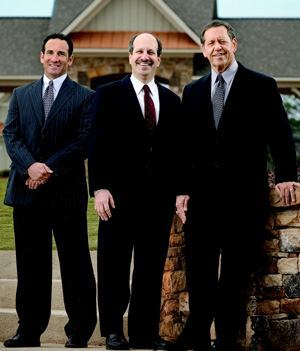 Left to right: Jeffrey Abraham, CFO; Bryan Cohen, president; and Rick Stein, CEO