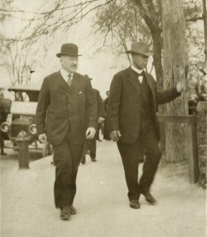 Julius Rosenwald and Booker T. Washington, circa 1915