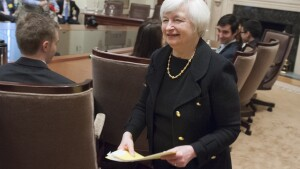 Fed chair Janet Yellen is at the center of financial focus.