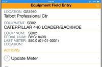 Equipment Field Entry Mobile APP