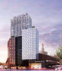 A 32-story residential tower will be among the 15 buildings at the Atlantic Yards complex in Brooklyn, N.Y., that will be mostly constructed in a prefab modular manufacturing plant.