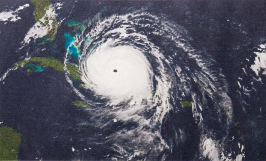 Adobe/trongnguyen Geocolor Image of Hurricane Irma. Elements of this image furnished by NASA.
