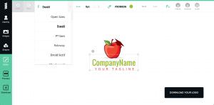 GraphicSprings' logo editor