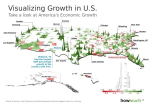 Where local U.S. economies are hot, and where they're not.