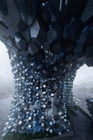 "P-A-T-T-E-R-N-S (Marcelo Spina and Georgina Huljich), ""Keelung Crystal,"" digital image, 2013, Taiwan."