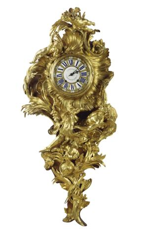 "EXHIBIT    A French gilt-bronze wall clock (shown here), 4 feet tall with nary a flat surface, is one of 40 works of 17th and 18th century decorative arts that the Getty Museum has selected from its own holdings and from a historic English country house for the exhibit ""Taking Shape."" Displayed in one of Richard Meier's pavilions, the pieces find new consideration as works of sculpture. Through July 5.  getty.edu"