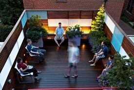 Low-Maintenance Rowhouse Deck Remodel