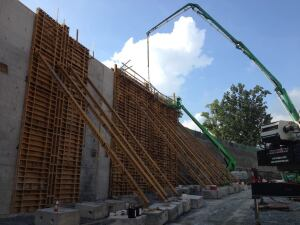 Using Self Consolidating Concrete For Tall Walls Concrete