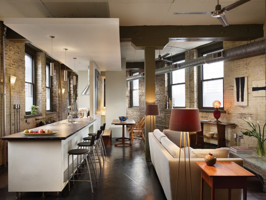 Industrial loft conversion project philadelphia residential architect interiors award Philadelphia interior design firms