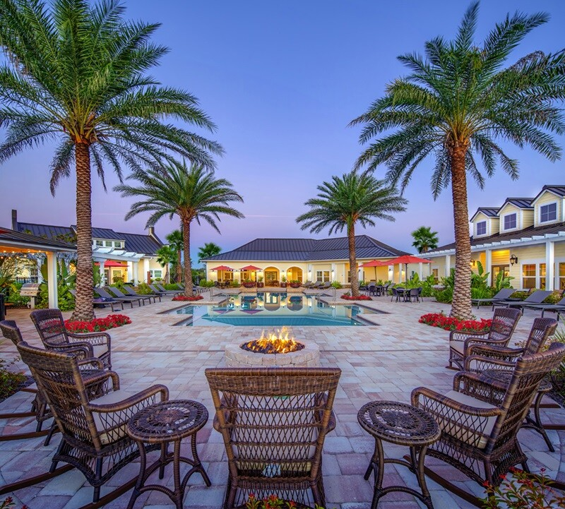 ParkCrest Landings, in Bradenton, Fla., managed by Fogelman Management Group. The company displays the property's resident ratings prominently on the community's website.