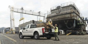 Ford's F-150 pickup on the jobsite