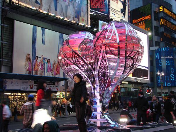 """Inaugural Times Square Valentine Heart"" by Gage/Clemenceau Architects (2009)."