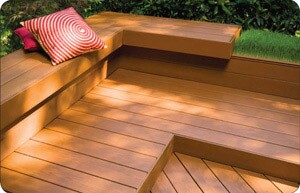 Synthetic decking comes in a range of colors and textures, giving homeowners and deck builders design flexibility. Hidden fastening systems and color-matched fasteners help give a finished look.