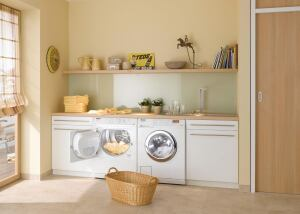 Miele. The 3035 series of large-capacity (2.52-cubic-foot) washers are rated at 2.31 MEF and 4.4 WF, or 28% and 70% better than minimum Energy Star standards. The washer offers 11 wash-cycle options and six spin settings up to 1,300 rpm. A honeycombed stainless steel tub treats clothes more gently, the maker says. The unit also is equipped with Miele's RemoteVision, which automatically monitors the appliance 24/7 and reports any user faults or potential service problems to the company's service center. 800.843.7231.  www.miele.com.