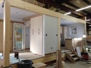 The Greenbuild Unity Home is currently under construction at Unity Homes' factory in Walpole, N.H.