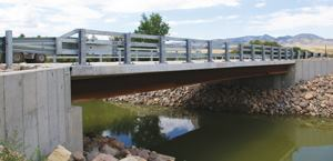 Cities, counties, and states are being asked to meet the nation's increased demand for better infrastructure with limited resources. eSPAN140 gives bridge engineers and managers the resources to design, fabricate, and erect economical steel bridges, such as the rolled beam Wheeler Bridge over the Sevier River in Axtell, Utah. Photos: SSSBA