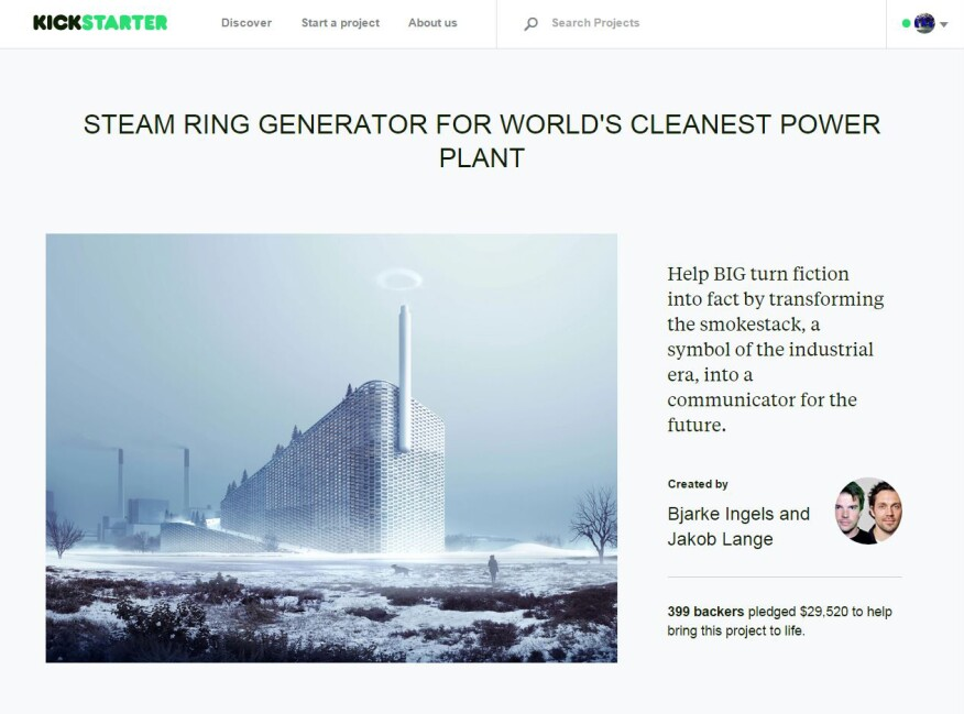 A screenshot of BIG's Kickstarter campaign page.