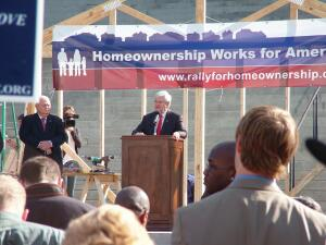 Rallying Cry Earlier this year the NAHB hosted a bipartisan rally in Columbia, S.C., as part of an ongoing effort to demonstrate the importance of homeownership to families and to the economy.