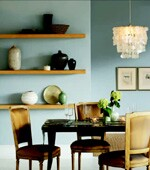 Not all room colors must come from paint. Include tones from wood, metal, upholstery, and  elsewhere in your palette.