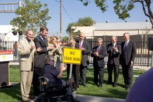 The nation's largest rail safety program comprises 47.5 miles of commuter track running through the cities of Anaheim, Dana Point, Irvine, Orange, San Clemente, San Juan Capistrano, Santa Ana, and Tustin in California. Improvements include upgraded and updated warning devices, additional gate arms, extended and raised medians, improved signage, and coordinated traffic signals.