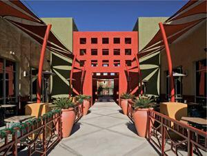Urban elements come to suburbia in the 342-unit Shade at Desert Ridge.