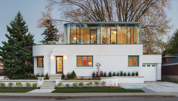 A Modern Art Deco Home Visualized In Two Styles: Renovation Revives An Aging Art Deco Home