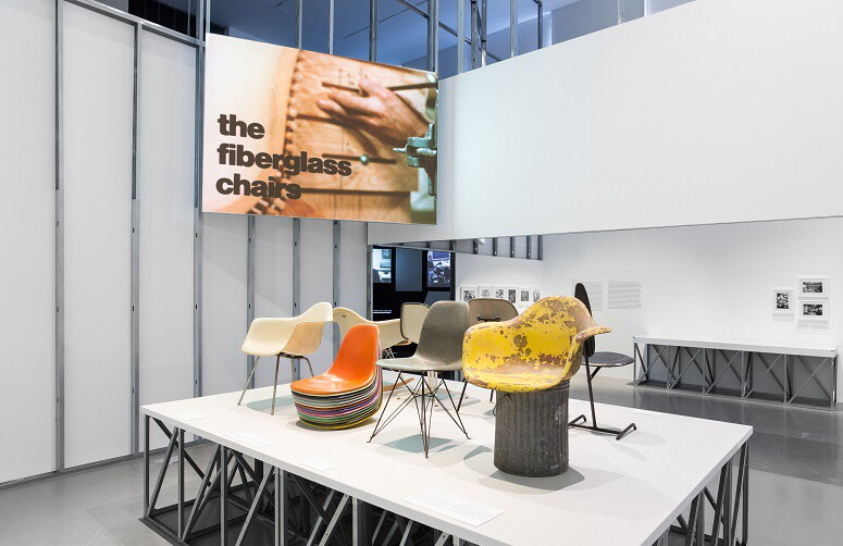 """""""The World of Charles and Ray Eames,"""" an exhibition on display in the Central Tejo building"""