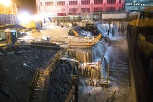 Flooding at the World Trade Center Site