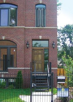 Sustainable construction is especially popular in the residential sector. This Chicago brick home, renovated by Om Development, exceeds Energy Star requirements by 80%.
