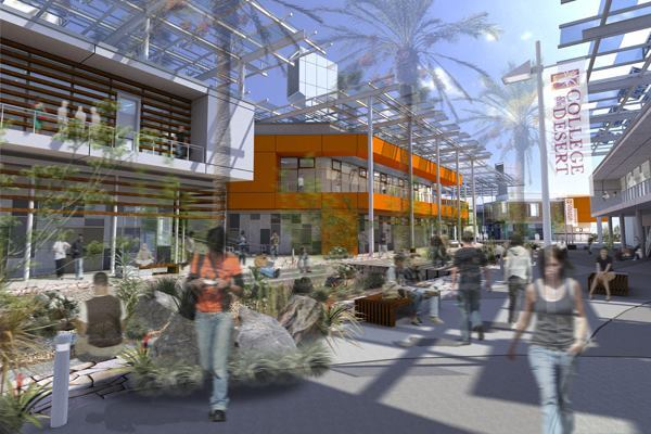 West Valley Campus at the College of the Desert, Palm Springs, Calif. - the new West Valley Campus will be organized around an Arroyo, or dry riverbed.