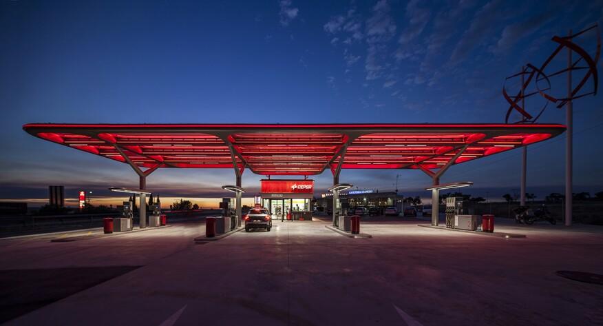 CEPSA Flag Petrol Station, Adanero, Spain