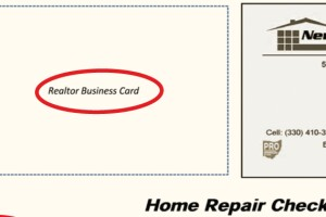 """Your Card HereNew View Constructionís website has an information page for real estate agents with a link from which agents can download the home-repair checklist. Co-owner Joe Wagner includes his card and provides a place for agents to attach their cards. """"Our goal is for [realtors] to incorporate [the list] into their arsenal of tools,"""" Wagner says."""