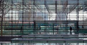 The Lenovo/Raycom technology campus near Beijing (opposite), designed by Skidmore, Owings & Merrill, incorporates glass from a Chinese maker, China Southern Glass Holding Co.