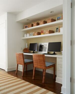 Built-ins, a favorite of buyers at all price points, can easily be constructed with stock materials.